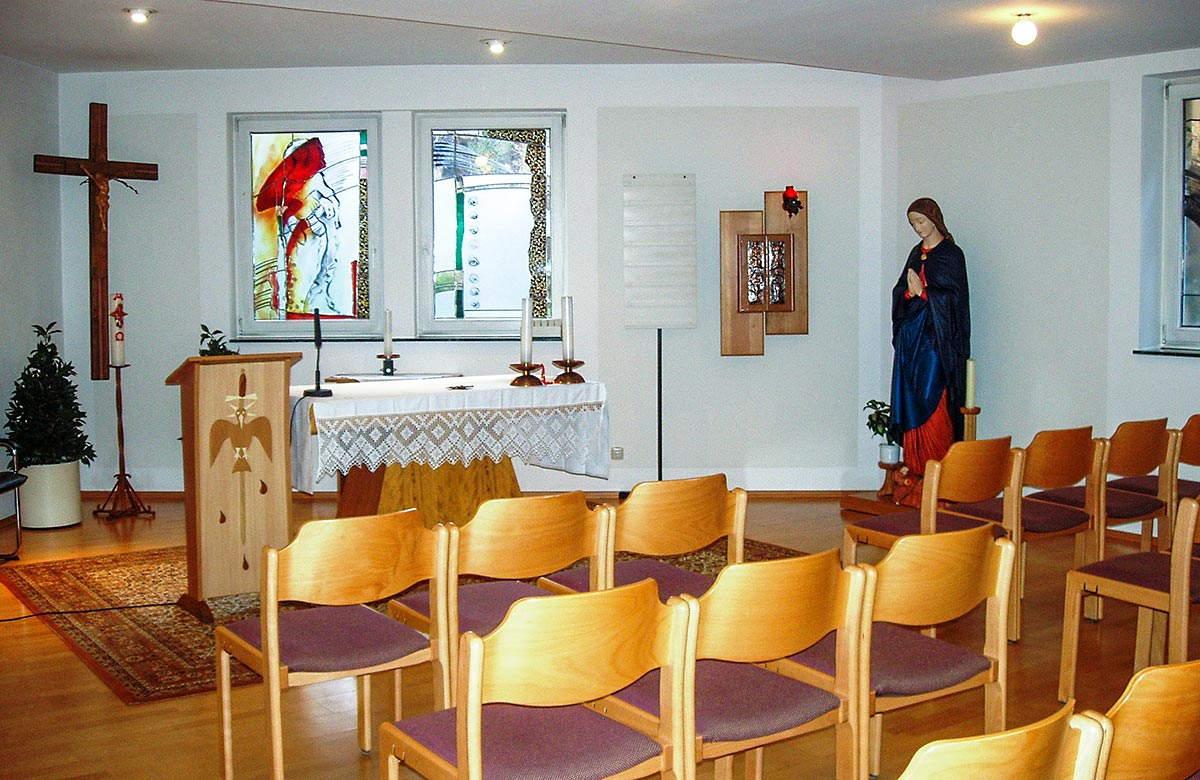"""Kapelle des Altenpflegezentrum """"Karlshof"""" in Birkenfelde"""